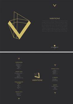 """VARIATIONS"" Exhibition for the ""V"", bar of La Villa Maillot in Paris. Cocktails Menu"