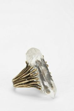 Quartz Talon Ring, handmade in Philadelphia by Sarah Lewis. #urbanoutfitters
