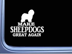 Window Decals, Car Decals, Bumper Stickers, Old English Sheepdog, Car Magnets, Dogs, Bumper Stickers For Cars, Window Stickers, Pet Dogs