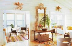 mid century coastal mix--this is so right!