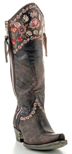 Women's old Gringo Gayla razz boots in chocolate