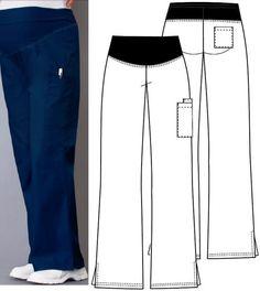 molde para hacer filipina quirúrgica - Buscar con Google Fashion Figure Drawing, Scrubs Uniform, Fashion Figures, Custom Clothes, Parachute Pants, Sweatpants, Sewing, Womens Fashion, Spas