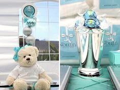 Tiffany blue baby shower- have a build a bear made for the new baby?