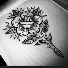 Day off boredom rose. #rosetattoo #tradtattoo #traditional #tatts #linework #finelineart #finelines #rose #tattoo #tattooart #tattoodesign #oldschool #igart #igtattoo #wip #tattooartist #burtoninc...