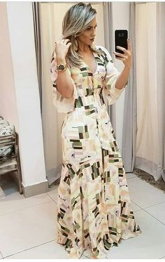 Stylish Dresses For Girls, Stylish Dress Designs, Modest Dresses, Casual Dresses, Fashion Dresses, Maxi Dresses, Maxi Outfits, Trend Fashion, Women's Fashion