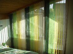 Flecos en tonos verdes y amarillos