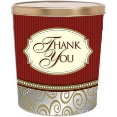 Buy Classic Thank You Gourmet Popcorn Gift Tins in Dallas at Nikki's Popcorn. Fill your tin with any flavors you like! Popcorn Tins, Gourmet Popcorn, Candy Gift Baskets, Candy Gifts, Popcorn Company, Bulk Candy, Tin Gifts, Gift Ideas, Classic