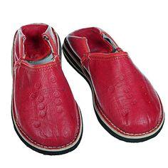 Marokkanischer Lederschuh Babouches unisex Pantoffel Tafrout rot Gr.37-41 orientalische Schuhe - http://on-line-kaufen.de/albena-marokko-galerie/marokkanischer-lederschuh-babouches-unisex-rot