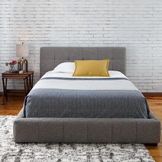 Quattro Fabric Bed/ Use discount code PINIT by July 4th to receive 15% off your first Dolly!