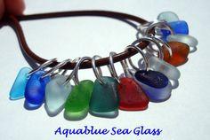 12 Sea Glass EXTRA Tiny   Top Drilled English  by aquablueseaglass, $23.00