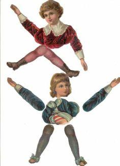 Victorian Scrap Little Boys 2 Paper Dolls Raphael Tuck c1800'S   eBay