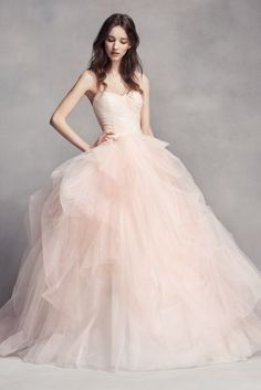 7b906feb366 White by Vera Wang Ombre Tulle Wedding Dress Style VW351322