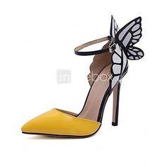 Femei Stiletto Heel Toe ascuțit Pompe cu pantofi Bowknot (Mai multe culori) - USD $17.99