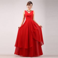 red long section of the bride dress