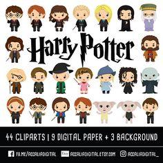 Harry Potter paquete de imágenes prediseñadas Wizzard