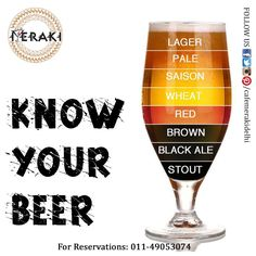 They who drink beer will think beer, So you should know your beer. Add some more in your beer list only at Cafe Meraki ‪#‎beer‬ ‪#‎booze‬ ‪#‎drinkup‬ For reservation call at 011-49053074