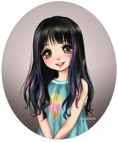 Cute Smile by on DeviantArt Avatar Manga, Manga Anime, Anime Art Girl, Manga Girl, Anime Girls, Disney Drawings, Cute Drawings, Girl Cartoon, Cartoon Art