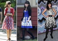 Zooey Deschanel, musa do vintage, sabe usar vestidos retrô muito bem http://vilamulher.terra.com.br/vestidinhos-retro-como-nao-amar-14-1-32-2663.html