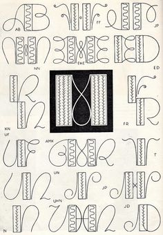 Embroidery monogram patterns from 1950