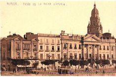 TARJETA POSTAL DE MURCIA. Nº 16. PASEO DE LA REINA VICTORIA. L. ROISIN. (Postales - España - Murcia Antigua (hasta 1.939)) Glorieta de España