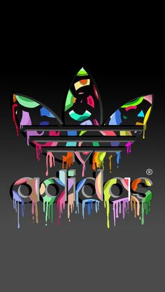 Adidas Dripping Blood Logo Sticker Adidas, Blood and Logos