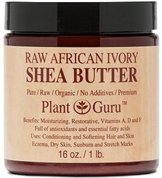 Follow us to http://freecycleusa.com SHEA BUTTER - Plant Guru Premium Raw Unrefined Organic Ivory African Shea Butter - Grade A - Natural Skin Care, Hair Care and Body Butters - Rich in Vitamins A & E - Use on Acne, Eczema, Stretch Marks, Rashes - Essential Ingredient for DIY Body Butters, Lotions, Soaps and Other Natural Skincare Recipes - 1LB (16oz)