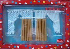 3 Gardinen Vorhänge Curtains Puppenhaus Lundby