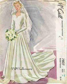 McCall 4133 Ladies and Misses Dress. 1941. 1940s | McCall 1940s ...
