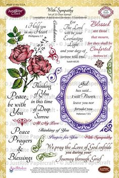 With Sympathy Clear Stamps