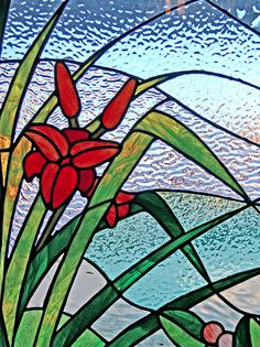 Simple Floral Stained Glass