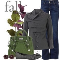Fall Outfit. I love the buttoning.