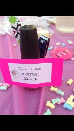 Favour idea for bachelorette so cute!