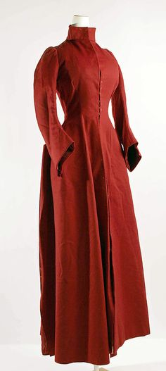 Coat  Date:     ca. 1885 Culture:     American (probably) Medium:     wool Dimensions:     Length at CB: 59 in. (149.9 cm) Accession Number:     1981.380.18