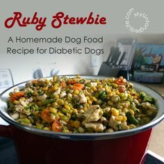 Freshpet Select Fresh From the Kitchen – Refrigerated Wet Dog Food – Ruby Stewbie Diabetic Dog Food – Dog Food – Ideas of Dog Food – A Homemade Dog Food Recipe for Dogs with Diabetes Food Dog, Make Dog Food, Homemade Dog Food, Homemade Recipe, Diabetic Dog Food, Diabetic Recipes, Diabetic Dog Treat Recipe, Healthy Recipes, Dog Food Recipes