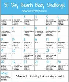 30 day beach body challenge#Health&Fitness#Trusper#Tip