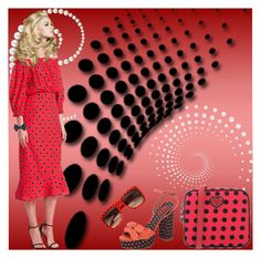 """""""Red and Black--My Favorite Color Combo!"""" by bevamartin ❤ liked on Polyvore featuring Tabitha Simmons, Hogan, Saloni, Brooks Brothers and Dolce&Gabbana"""