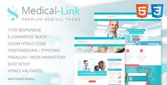 Medical-Link - Responsive Medical HTML5 Template . Medical-Link is a premium medical HTML5 template designed for medical professionals, practitioners, doctors, nurses, clinics, hospitals and anyone associated with the healthcare