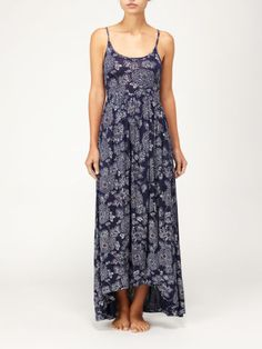 Quiksilver Blue Skies Floral Maxi Dress