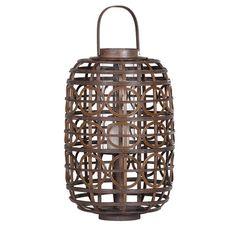 Large rattan lantern with circles