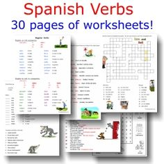 1000 images about verbs on pinterest present tense spanish and teaching spanish. Black Bedroom Furniture Sets. Home Design Ideas