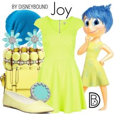 Joy by leslieakay on Polyvore featuring River Island, Dorothy Perkins, Oasis, House of Harlow 1960, Bling Jewelry, J.Crew, Coal, disney, disneybound and disneycharacter