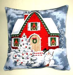 Decorative Christmas Pillows, Christmas Snowman Pillows,Santa's House,Christmas Decor,Pillow With Both Sides,Christmas Tree,Christmas Gifts.