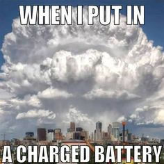 When I put in A charged battery.. especially with an Aspire product...