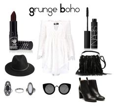 """Grunge Boho"" by karla-snyders on Polyvore featuring Topshop, Quay, Anja, Stephane Kélian, BeckSöndergaard, Yves Saint Laurent, Manic Panic and NARS Cosmetics"