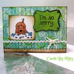 Sorry Card Handmade greeting card by CardsByKitty on Etsy
