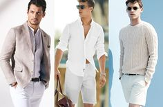 White and off-white shades – including cream, beige and ivory – are perfect for the warmer months of the year. Head-to-toe brilliant white is certainly the more ambitious look to try. #StyleTips #MensFashion #JadeBlue