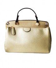 Vintage PU Leather Tote Bag with Zip Closure