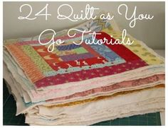 I am kind of fascinated with the Quilt as you go method. I don't use it very often…sometime I find it confusing to get all the parts right, but it's a great method to use if you don't own a big quilting machine. There is an additional beauty of -when it's done, it's done. {besides …