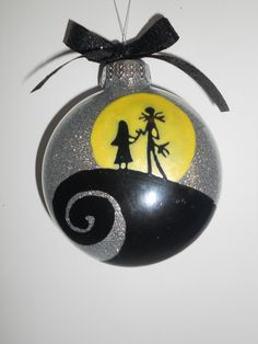 nightmare before christmas couple ornament by SimplyDez on Etsy, $10.00