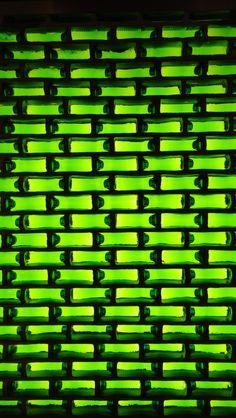 Heineken bottles used to make buildings
